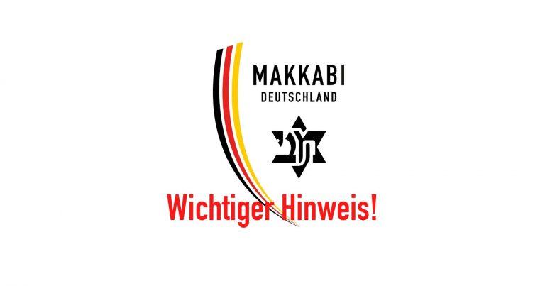 MAKKABI-NEWS: Absage SPORTLEHRGÄNGE bis 30.04.2020
